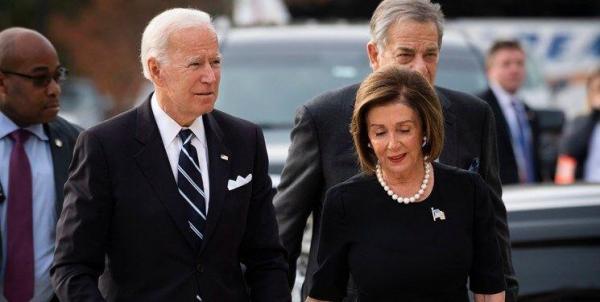 جو بایدن به پلوسی تبریک گفت