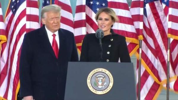 خانواده و هواداران ترامپ درآخرین روز ریاست جمهوری