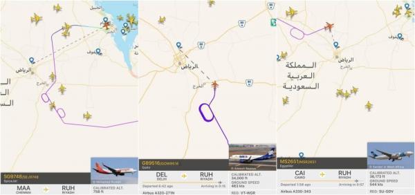 پروازهای فرودگاه ریاض عربستان متوقف شد