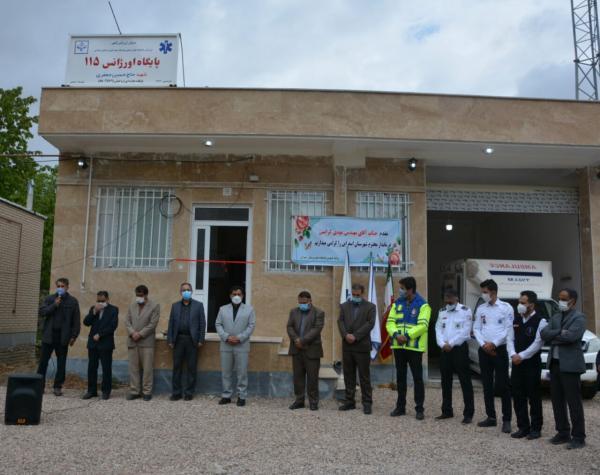خبرنگاران یک پایگاه اورژانس جاده ای در اسفراین به بهره برداری رسید